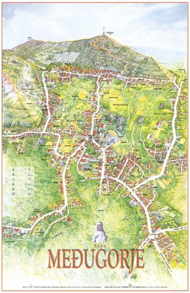 medjugorje map